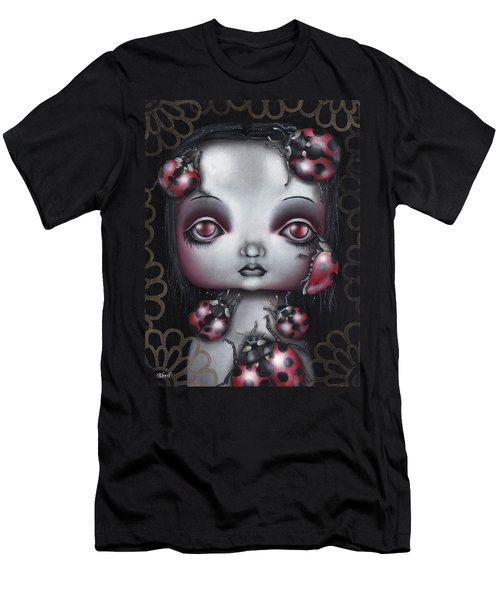 Lady Bug Girl Men's T-Shirt (Slim Fit) by Abril Andrade Griffith