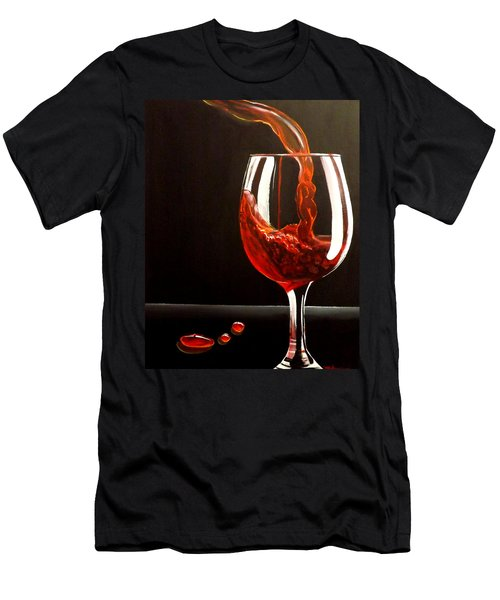 Lady In Red Men's T-Shirt (Slim Fit) by Darren Robinson