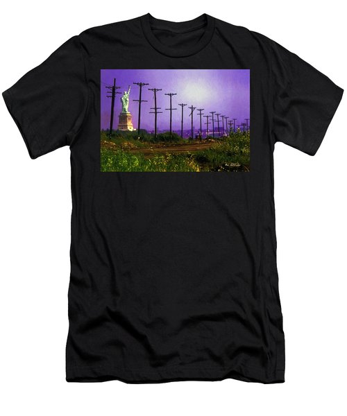 Lady Liberty Lost Men's T-Shirt (Athletic Fit)