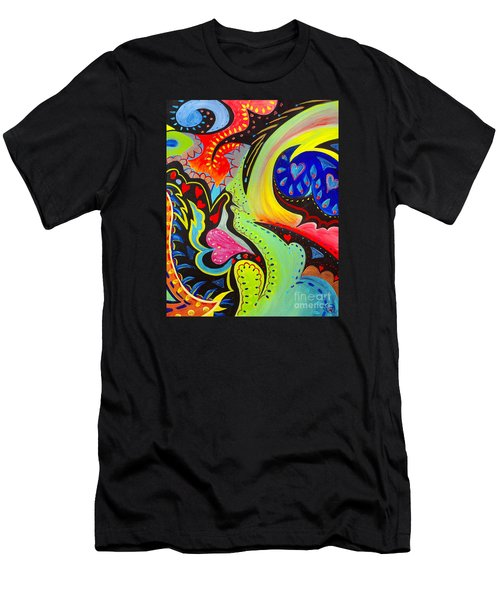 Men's T-Shirt (Athletic Fit) featuring the painting Lady Love by Nancy Cupp