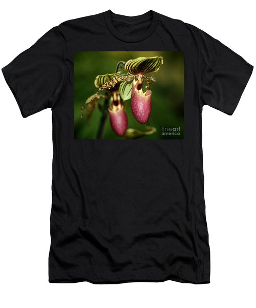 Lady Slipper Orchid Twins Men's T-Shirt (Athletic Fit)