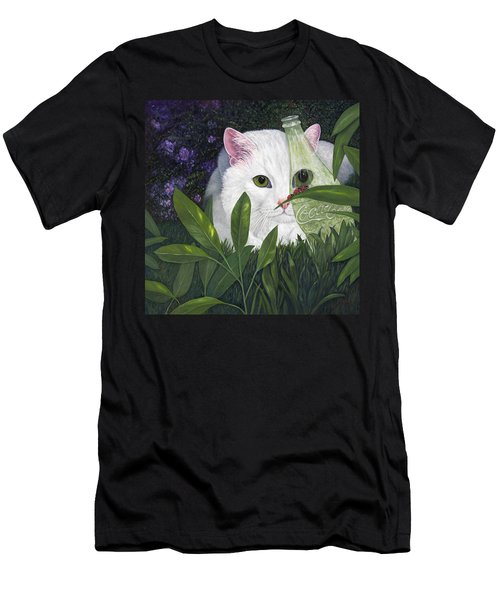 Ladybugs And Cat Men's T-Shirt (Athletic Fit)