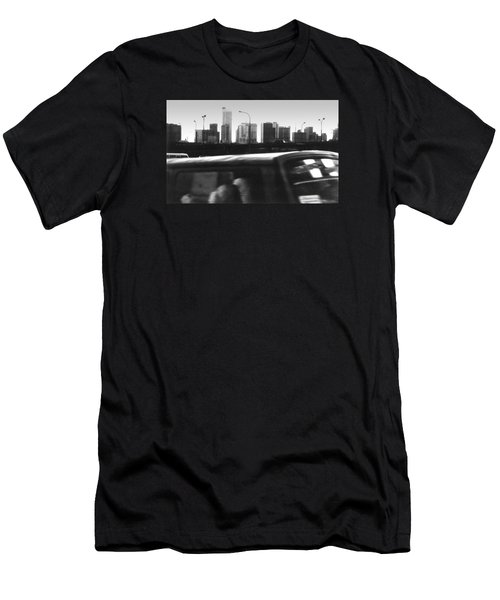 Lagos Skyline At Dusk Men's T-Shirt (Athletic Fit)