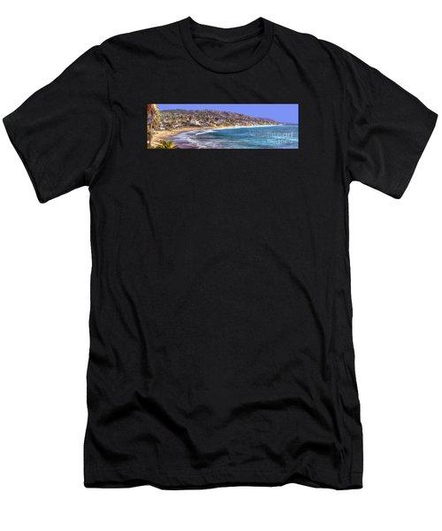 Laguna Beach Coast Panoramic Men's T-Shirt (Athletic Fit)