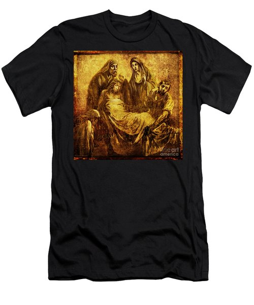 Laid_in_the_tomb Via Dolorosa 14 Men's T-Shirt (Athletic Fit)