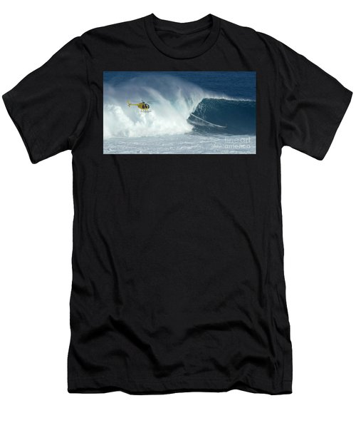 Laird Hamilton Going Left At Jaws Men's T-Shirt (Athletic Fit)