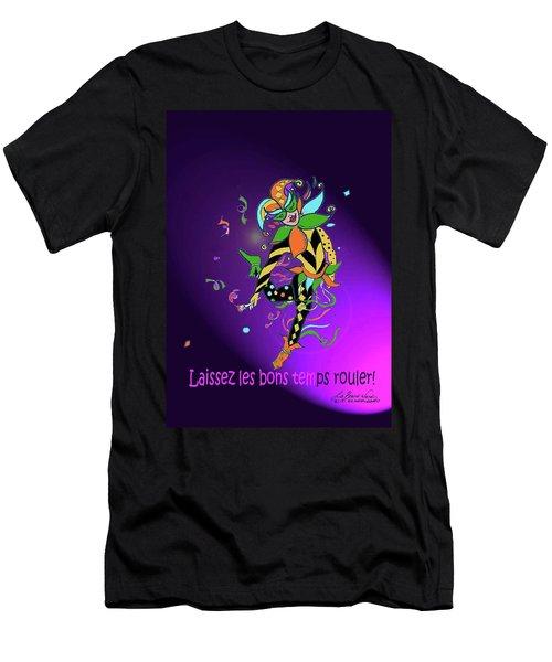 Laissez Les Bon Temps Rouler Men's T-Shirt (Slim Fit) by Lizi Beard-Ward