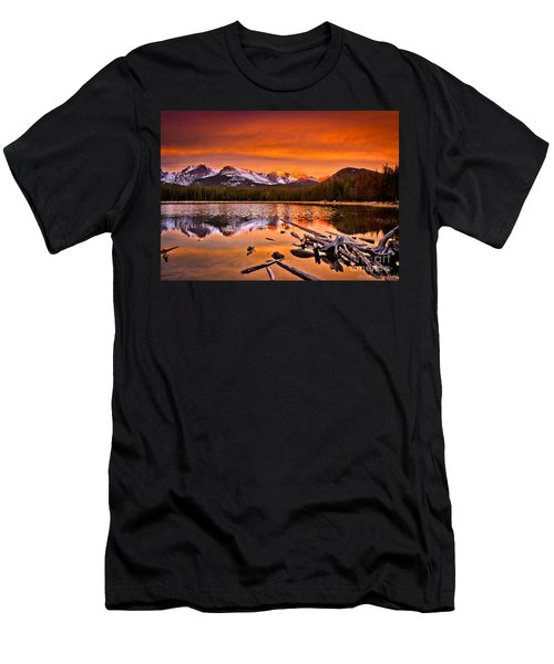 Lake Bierstadt In The Morn Men's T-Shirt (Slim Fit) by Steven Reed