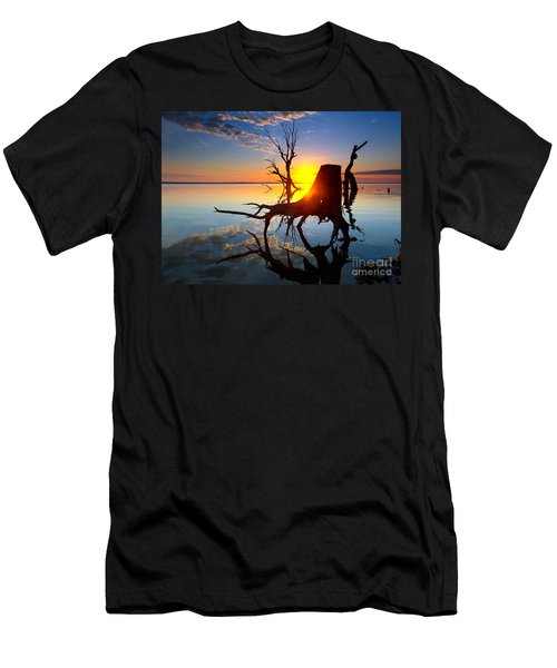 Men's T-Shirt (Slim Fit) featuring the photograph Lake Bonney Sunrise by Bill  Robinson