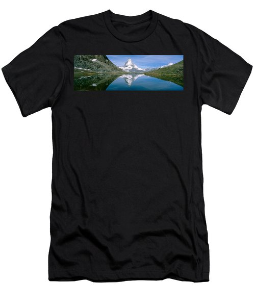 Lake, Mountains, Matterhorn, Zermatt Men's T-Shirt (Athletic Fit)