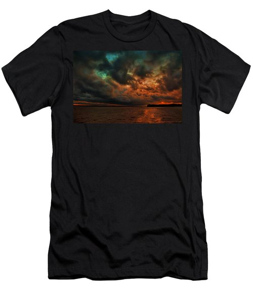 Lake Murray Fire Sky Men's T-Shirt (Athletic Fit)