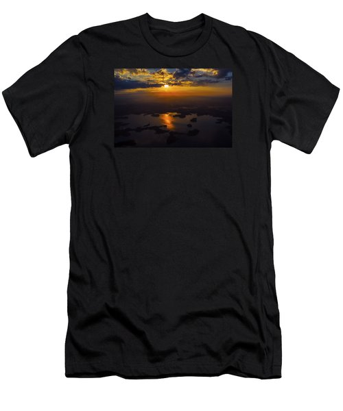 Lake Norman Sunrise Men's T-Shirt (Slim Fit) by Greg Reed