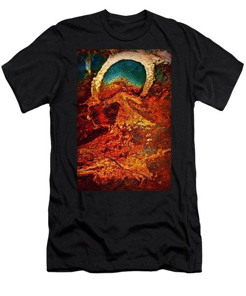 Lake Of Lava Men's T-Shirt (Slim Fit) by Leanna Lomanski
