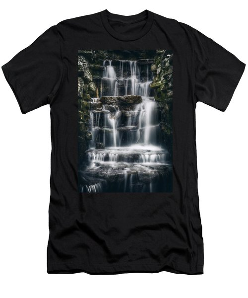 Lake Park Waterfall 2 Men's T-Shirt (Athletic Fit)