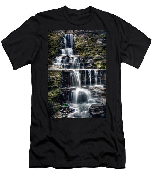 Lake Park Waterfall Men's T-Shirt (Athletic Fit)