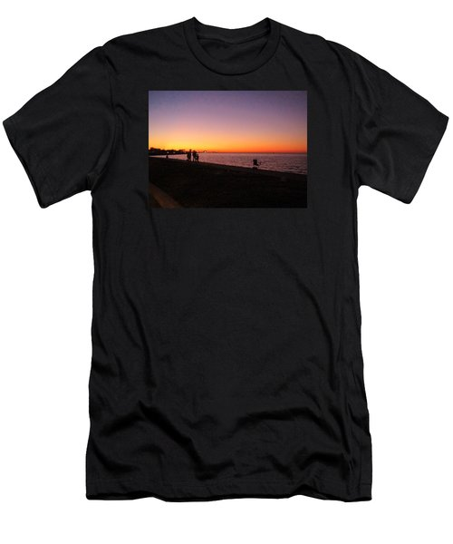 Lake Pontchartrain Sunset Men's T-Shirt (Athletic Fit)