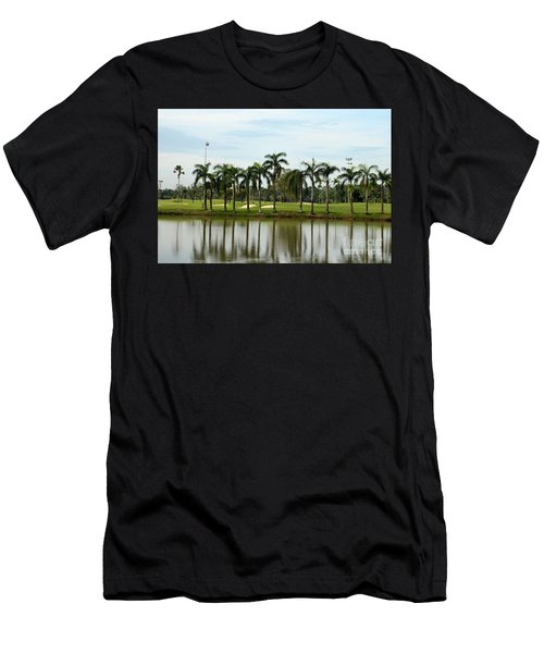 Lake Sand Traps Palm Trees And Golf Course Singapore Men's T-Shirt (Athletic Fit)