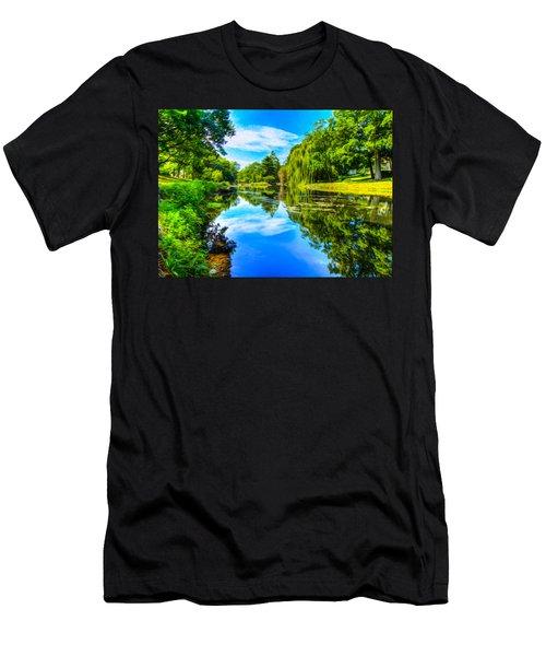 Lake Scene Men's T-Shirt (Slim Fit)