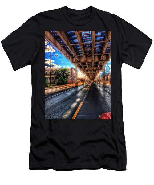 Lake Street El Tracks Men's T-Shirt (Athletic Fit)