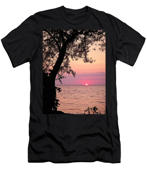 Lake Sunset Men's T-Shirt (Slim Fit) by Aimee L Maher Photography and Art Visit ALMGallerydotcom