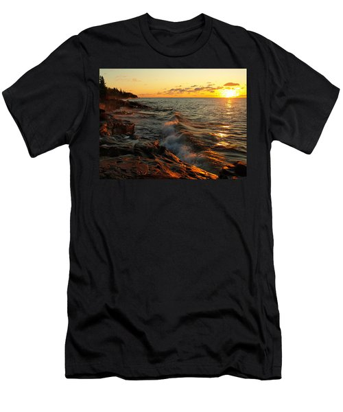 Men's T-Shirt (Athletic Fit) featuring the photograph Lake Superior Dawn by Jim Peterson