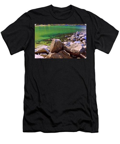 Lake Tahoe Green Men's T-Shirt (Athletic Fit)