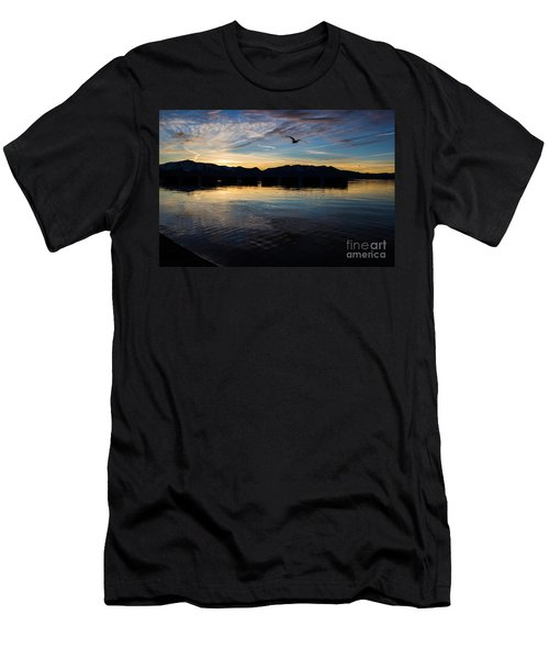 Lake Tahoe Sunset Men's T-Shirt (Slim Fit) by Suzanne Luft