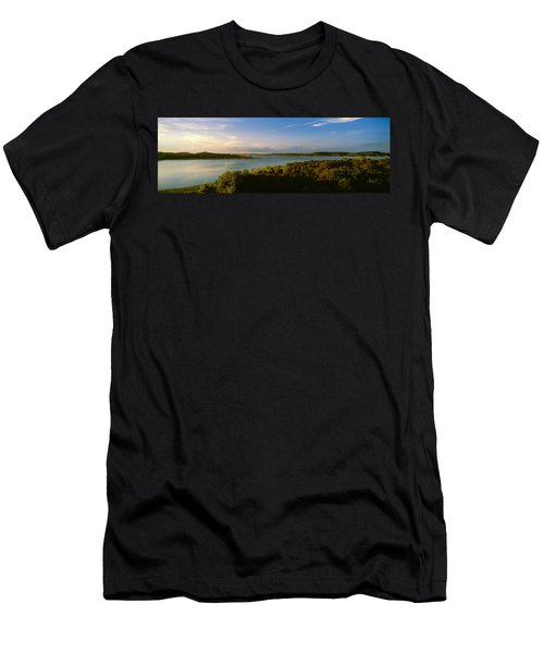 Lake Travis At Dusk, Austin, Texas, Usa Men's T-Shirt (Athletic Fit)