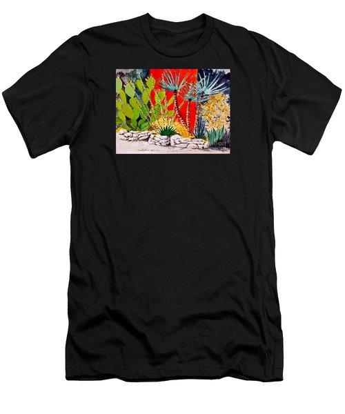 Lake Travis Cactus Garden Men's T-Shirt (Athletic Fit)