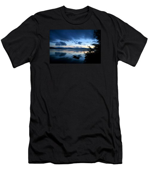 Lake Umbagog Sunset Blues No. 2 Men's T-Shirt (Slim Fit)