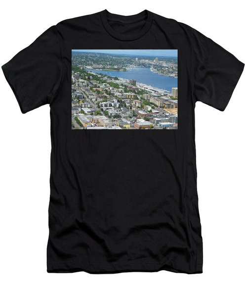 Lake Union Panorama Men's T-Shirt (Athletic Fit)