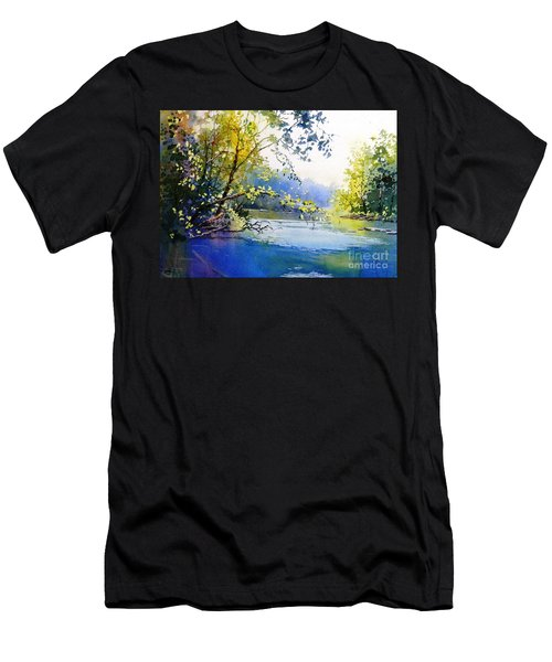 Lake View 2  Men's T-Shirt (Athletic Fit)