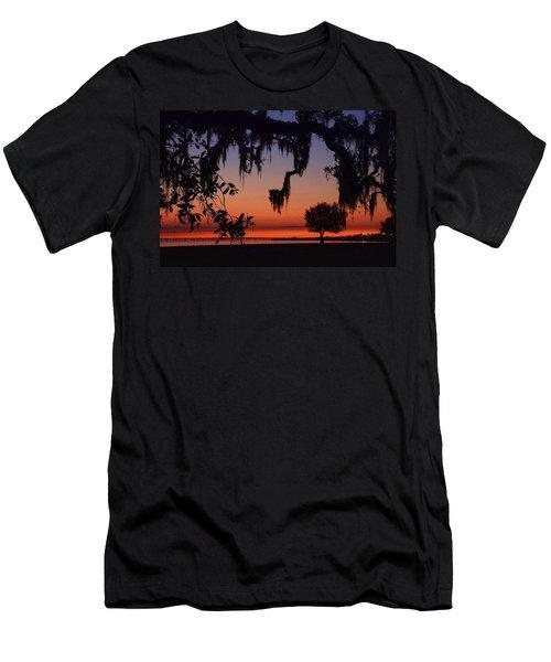 Lakefront Sunset Men's T-Shirt (Athletic Fit)