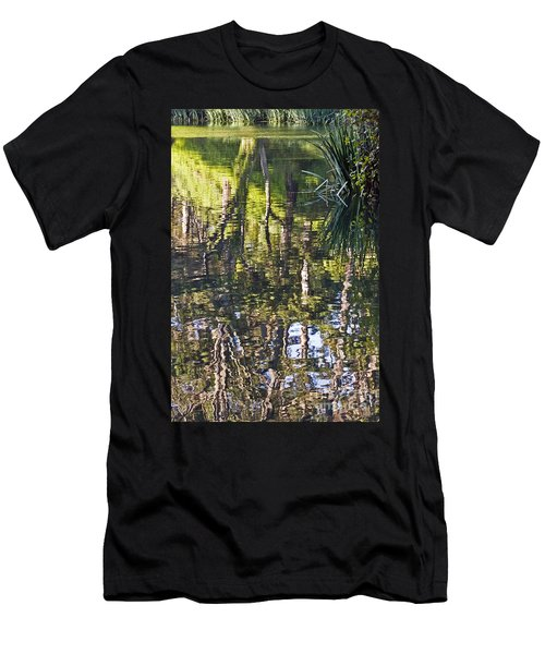 Men's T-Shirt (Slim Fit) featuring the photograph Lakeshore Reflections by Kate Brown