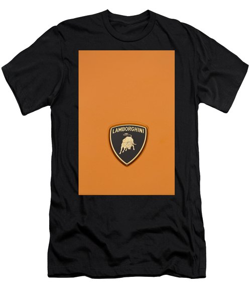 Lambo Hood Ornament Orange Men's T-Shirt (Athletic Fit)