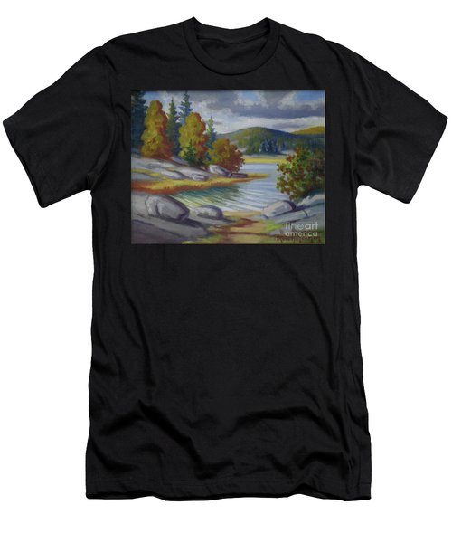 Landscape From Finland Men's T-Shirt (Athletic Fit)