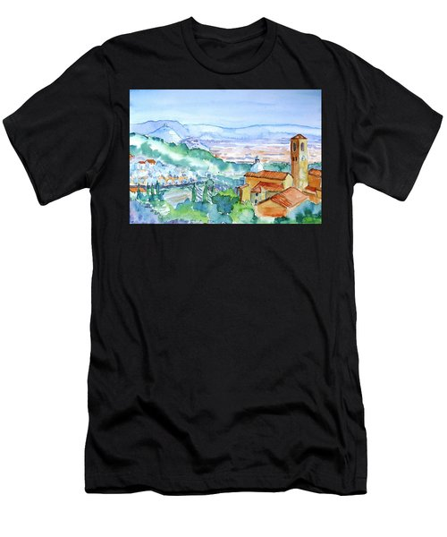 Tuscany Valley  Medieval Village Of Massa Men's T-Shirt (Athletic Fit)