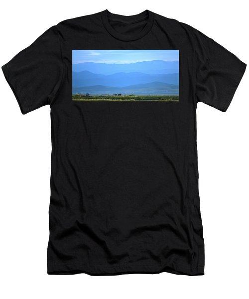 landscape of North CA Men's T-Shirt (Athletic Fit)