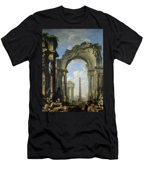 Landscape With Ruins Men's T-Shirt (Athletic Fit)
