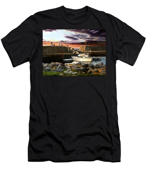 Lanes Cove Gloucester Men's T-Shirt (Slim Fit) by Eileen Patten Oliver