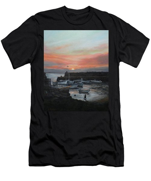 Lanes Cove Sunset Men's T-Shirt (Slim Fit) by Eileen Patten Oliver