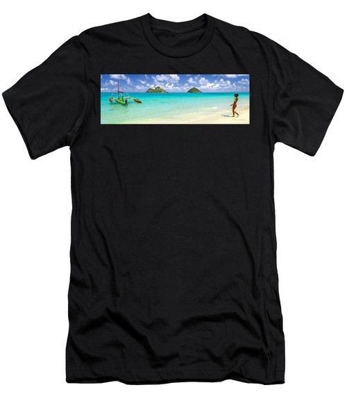 Lanikai Beach Paradise 3 To 1 Aspect Ratio Men's T-Shirt (Athletic Fit)