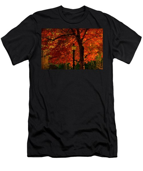 Lantern In Autumn Men's T-Shirt (Athletic Fit)