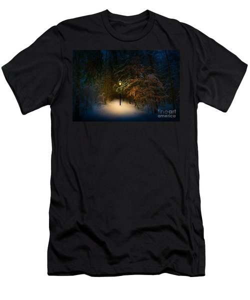 Lantern In The Wood Men's T-Shirt (Athletic Fit)