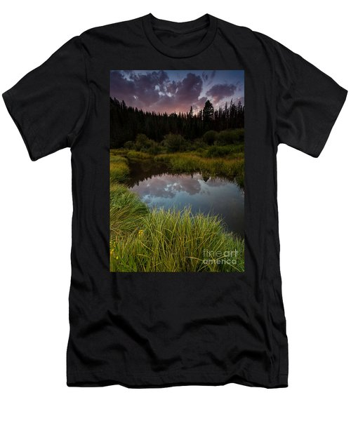 Laramie River Sunset Men's T-Shirt (Athletic Fit)