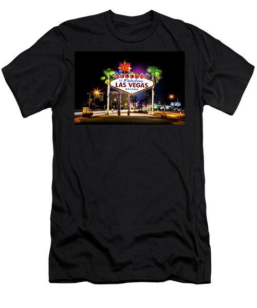 Las Vegas Sign Men's T-Shirt (Athletic Fit)