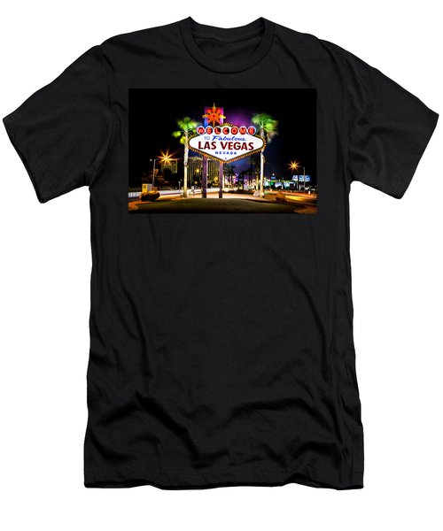 Las Vegas Sign Men's T-Shirt (Athletic Fit)