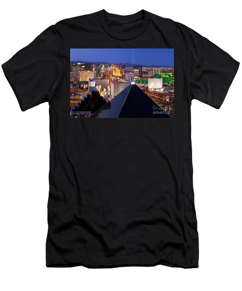 Men's T-Shirt (Athletic Fit) featuring the photograph Las Vegas Skyline by Brian Jannsen