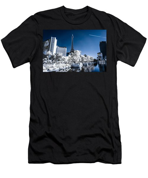 Las Vegas Strip In Infrared 2 Men's T-Shirt (Athletic Fit)