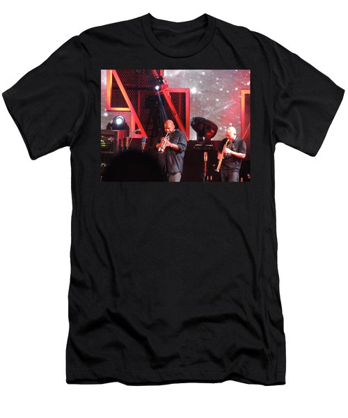 Men's T-Shirt (Slim Fit) featuring the photograph Lashawn Ross And Jeff Coffen by Aaron Martens